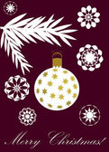 Purple christmas card — Vecteur