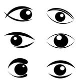 Set of eyes symbols — Stock Vector