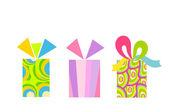 五光十色的礼物 — 图库矢量图片