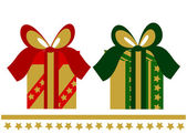 Two elegant Christmas presents — Stock Vector