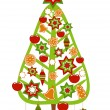 Christmas tree decorated — Stock Vector #24490561