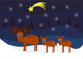 Moose Christmas — Stock Vector