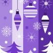 Kerstmis paars — Stockvector