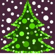 Christmas tree card — Stock Vector