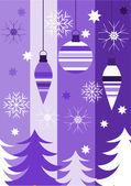 Christmas purple — Stock Vector
