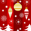Royalty-Free Stock Vectorielle: Red Christmas background