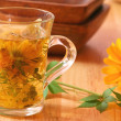 Healing herbal tea for winter time — Stock Photo
