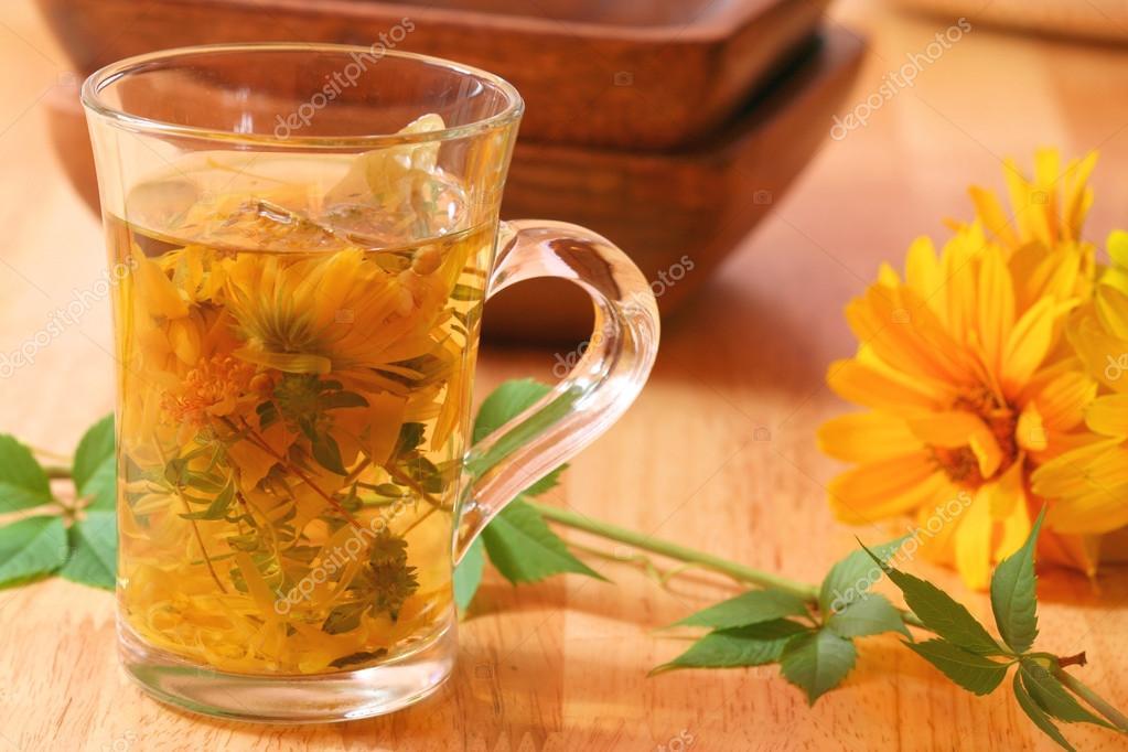 Healing herbal tea for winter time � Stock Photo � Studiobarcelona ...