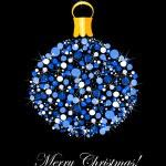 Blue Christmas ornament — Stock Vector #25058041