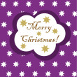 Purple Christmas card - Stock Vector