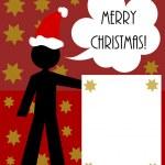 Christmas man — Stock Vector