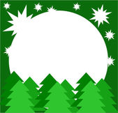Christmas trees card — Stock Vector