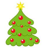 Christmas tree vector — Cтоковый вектор