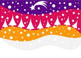 Christmas winter background — Stock Vector