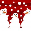Stock Vector: Snowmen