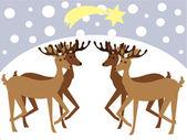 Reindeers — Stock Vector