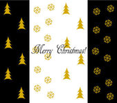Elegant Christmas card — Vettoriale Stock