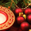 Stock Photo: Red Christmas decoration - macro