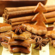 Christmas tree made of gingerbread — Stock Photo