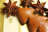 Gingerbread Christmas tree with aniseed — Stock Photo