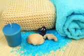 Spa soothe in blue color — Stock Photo