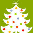 Royalty-Free Stock Vektorgrafik: White Christmas tree