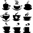 Coffee cup icons collection — Stock Vector