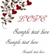 Royalty-Free Stock Vectorielle: Vintage valentine card