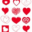 vector hearts — Stock Vector