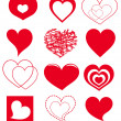 Vector hearts — Stock Vector #25790935