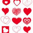 Vector hearts — Stock Vector