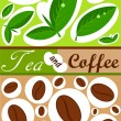 Stock Vector: Tea and coffee background