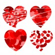 Royalty-Free Stock Vector Image: Hearts with patterns