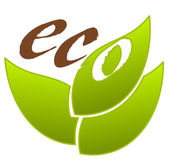 Ecological emblem — Vector de stock