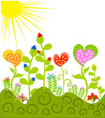 Colorful meadow — Stock Vector