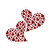 Dos corazones — Vector de stock