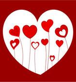 Hearts growing — Stock Vector