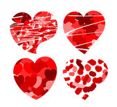 Hearts with patterns — Stock Vector