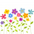Flowers growing — Imagen vectorial
