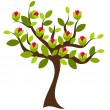 Flowering tree — Stock Vector #26033837
