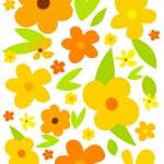 Flower meadow — Stock Vector