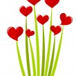 Bouquet of hearts — Imagen vectorial