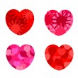 Abstract hearts - Stock Vector