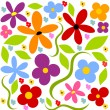 Flower meadow background - Imagen vectorial
