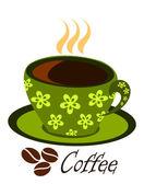 Café verde al vapor — Vector de stock
