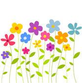 Bloemen groeien — Stockvector