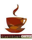 Künstlerische kaffee design — Stockvektor