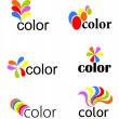 Colorful icons — Stock Vector