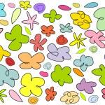 Doodle flowers — Stock Vector #26463405