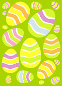 Easter eggs background — Stockvector